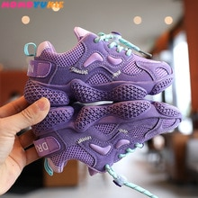 2020 Autumn New Kids Sports Shoes Air Mesh Breathable Children Casual Running Sneakers Soft Shoes fo