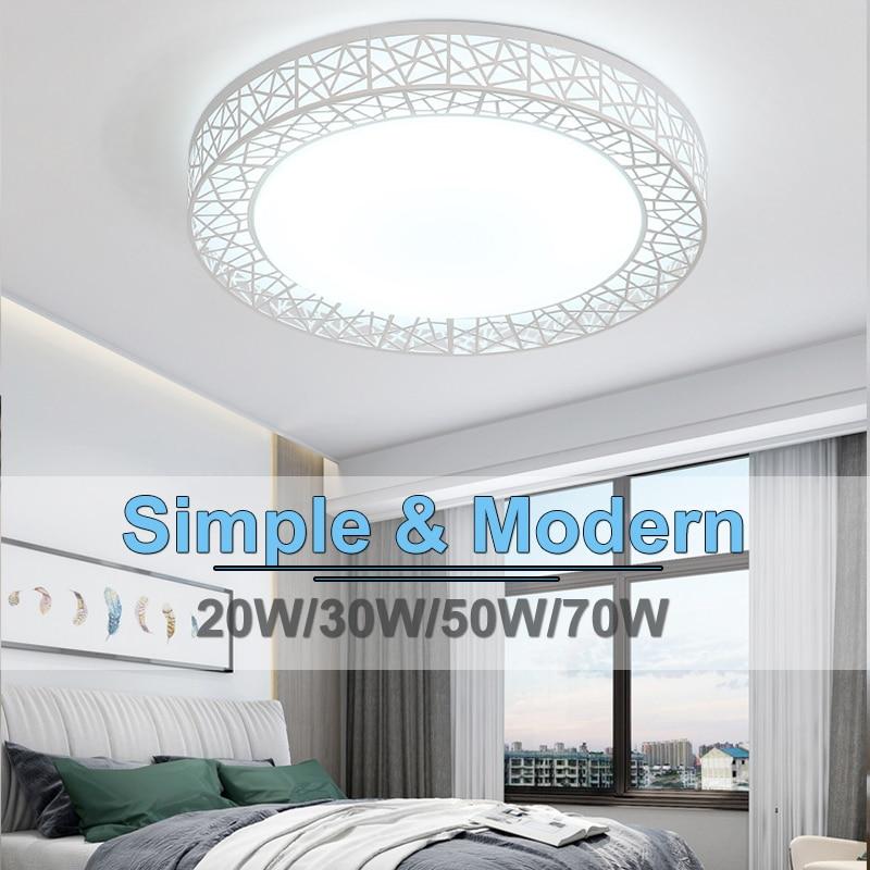 Luces de techo LED, lámpara montada en superficie de 220V, 16W, 30W, 50W, 70W, Panel cambiable, lámparas para iluminación de hogar, cocina