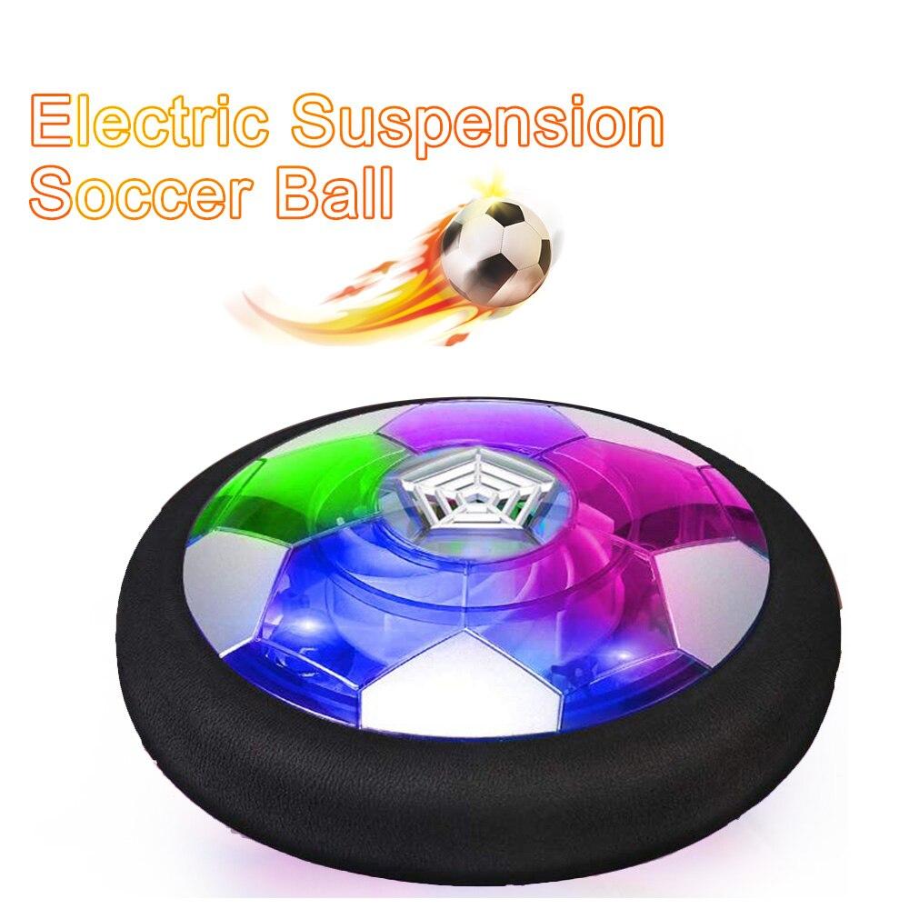 Balón de fútbol Hover, de potencia aérea para niños, balón de fútbol, suspensión eléctrica, luz LED de fútbol, superficie brillante, juguetes deportivos para el aire libre para interiores