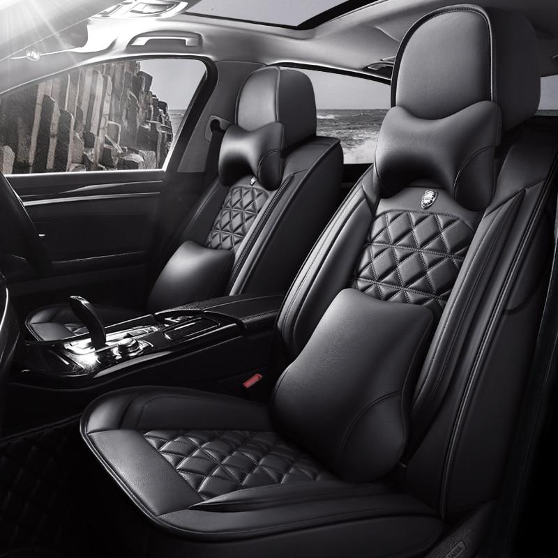 Flash Mat Universal de asiento de cuero de coche cubre para geely emgrand EC715 EC718 EC7 EC8 EC9 MK águila GC7 GC9 GX2 GX7 de asiento de auto cubre