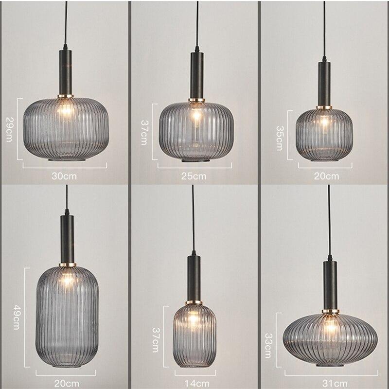 Luz industrial de cristal nórdico, lámpara led de pared para cocina, lámpara de Luna, ventilador de techo, lámpara de techo