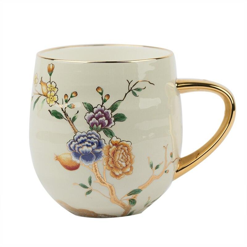 كوب قهوة سيراميك أوروبي ، فنجان شاي على شكل زهرة العظام ، فنجان قهوة إبداعي ، إبريق سكر ، كوب حليب ، ريترو ، مطبخ منزلي ، AA60BD