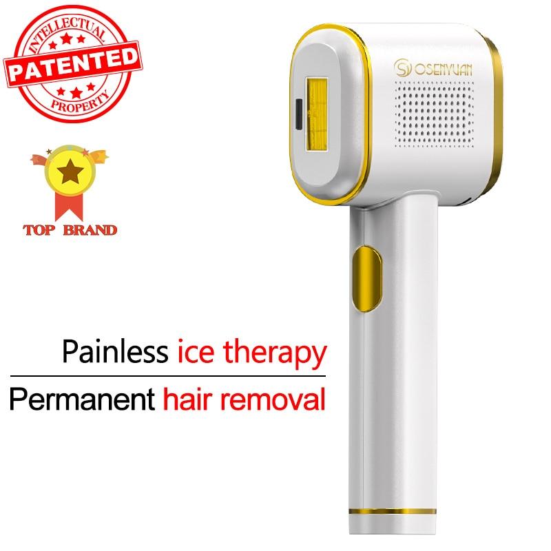 Osenyuan T023C Hair Removal The World's First Fully Intelligent Skin Detection Laser Epilator Sapphire Ice Epilator For Women