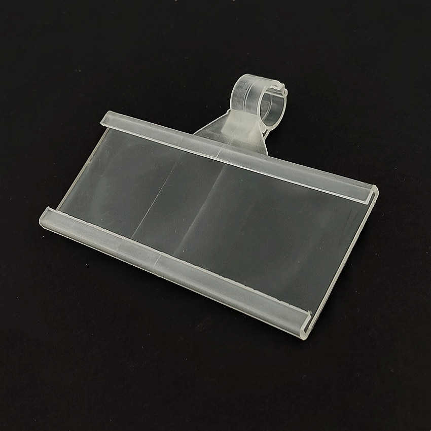 Plastic Price Signage Label Display Hook Hanging Tag Holders for Supermarket Shelf Single Wire Rack 100pcs