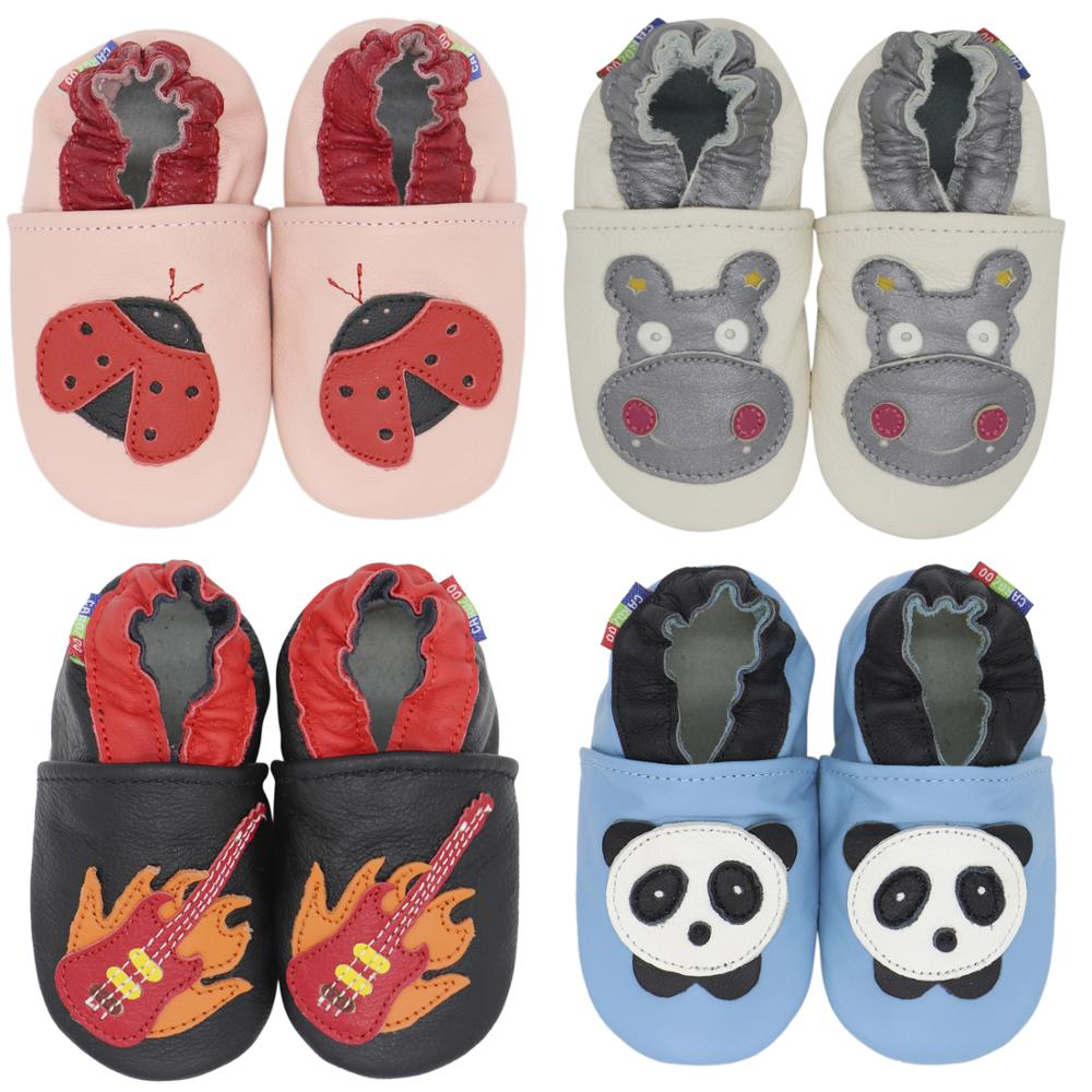 Carozoo Baby Shoes Boys Girls Soft Genuine Leather Antislip First Walkers Baby shoes 0-6m to 7-8y Skid-Proof baby slippers