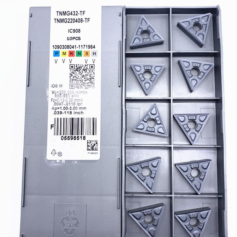 Твердый сплав TNMG220408 TF IC907/ IC908 внешние токарные инструменты tnmg 220404 фоторезак режущий инструмент ЧПУ Инструменты