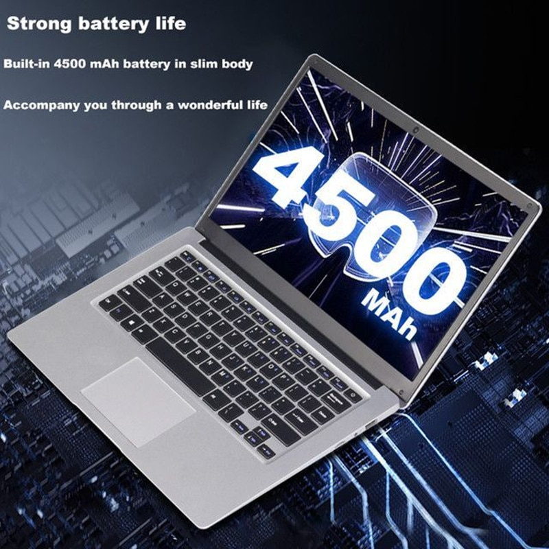 Free shipping 14.1 Inch 6GB RAM 64GB ROM N3350 CPU Notebook windows10 Laptop Student Netbook with line WIFI For Student