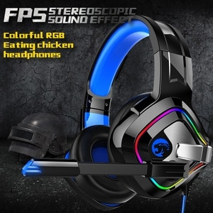 Gaming Headphones 4D Stereo RGB Marquee Earphones Gamer Headset with Mic for PS4  Laptop Tablet Gamer