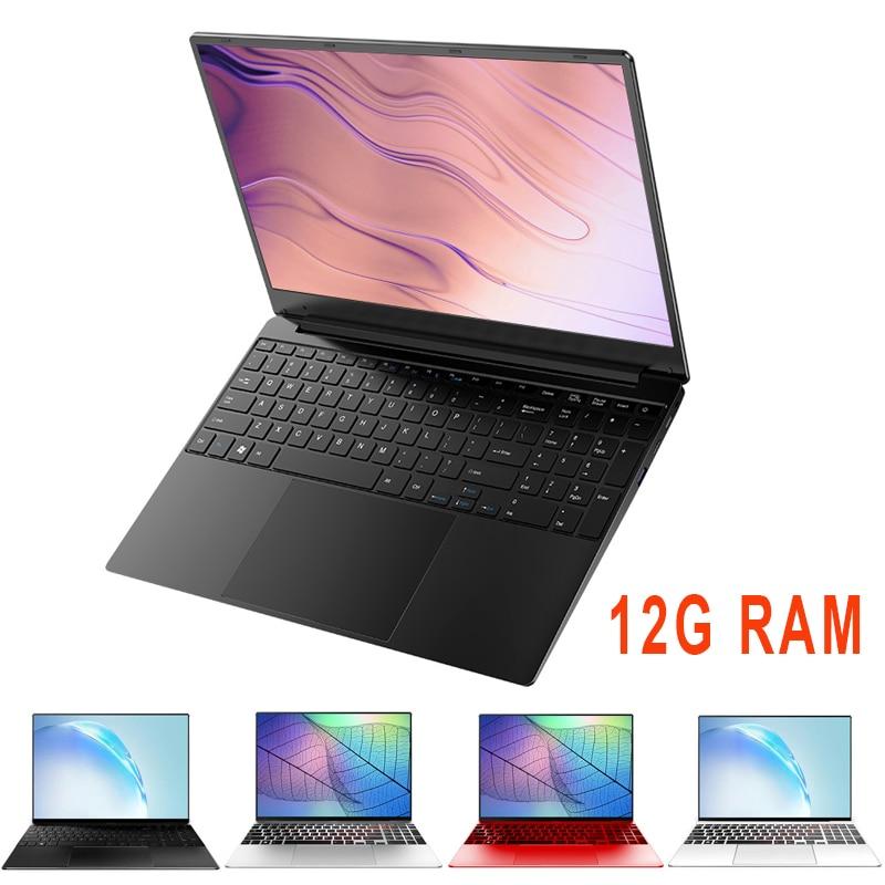 Portátil de 15,6 pulgadas 12G RAM ordenador portátil 128G/256G/512G/1TB SSD ROM IPS pantalla de juego portátil con sistema operativo Windows 10 Ultrabook