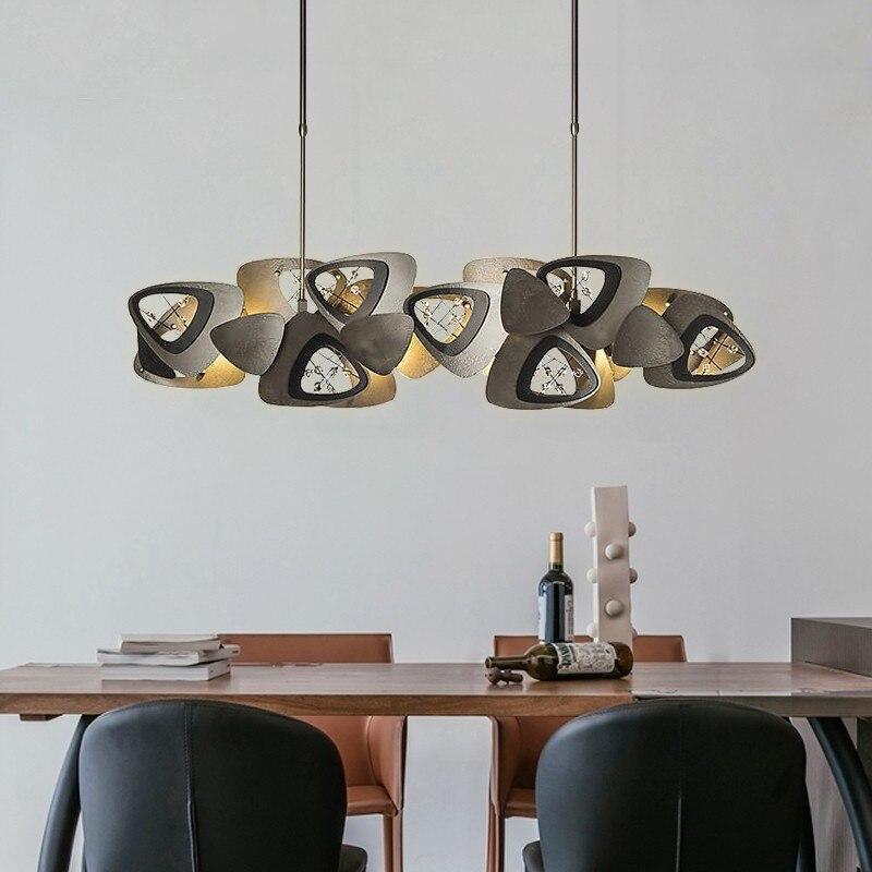 Novelty Postmodern LED Chandelier Dining Living Room Creative Long Hanging Light Restaurant Bar Cafe Crystal Luxury Pendant Lamp