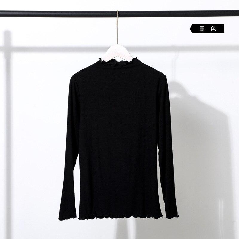 2019 Jersey suelto de talla grande para mujer de color sólido con cuello en V Europa y América