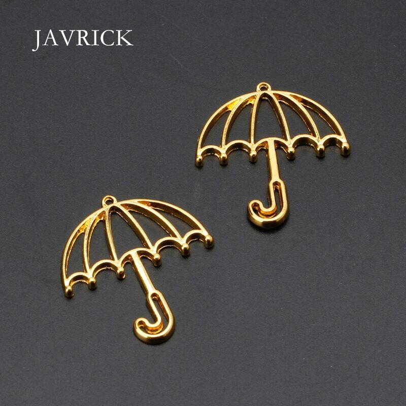 5Pcs Gold Umbrella Resin Frame Open Bezels Setting Blank Pendant DIY Charm Accessories Handmade Jewelry Making Tools