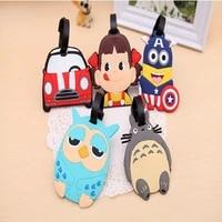 5pc creative luggage tag cartoon suitcase id addres holder luggage tags suitcase holder travel accessories handbag tag label