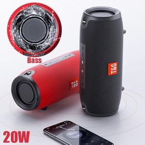 колонка Bluetooth портативная Колонка Беспроводная портативная звуковая коробка 20 Вт стерео Бас Сабвуфер fm-радио Бумбокс AUX USB PC звуковая панель динамики для iPhone Xiaomi Huawei акустическая система