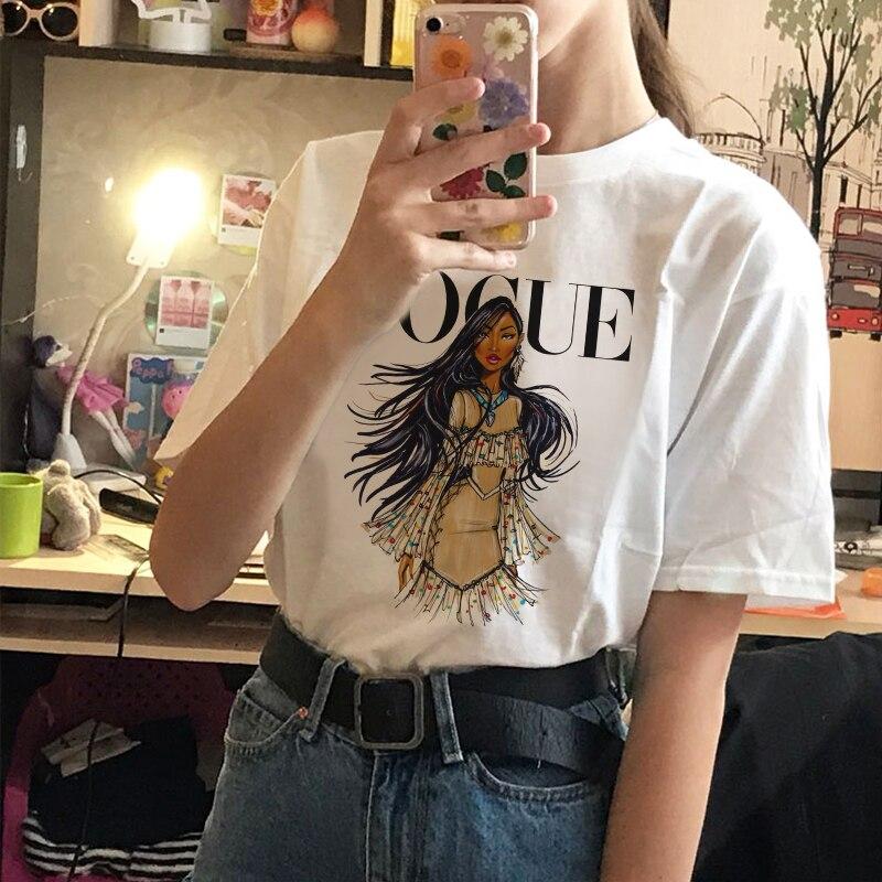 Poleras Mujer 2020 verano Harajuku Casual camiseta Mujer Vogue letra impresa Vogue camiseta de moda de talla grande estético camiseta de Mujer