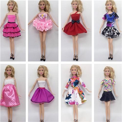 8 unidades/lote, superventas, conjuntos de ropa de muñeca de moda, ropa, vestido...