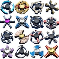 new gold color hand spinner zinc alloy decompress toy finger spinner tabletop toy cloud tower swallow dice hammer bullet shape