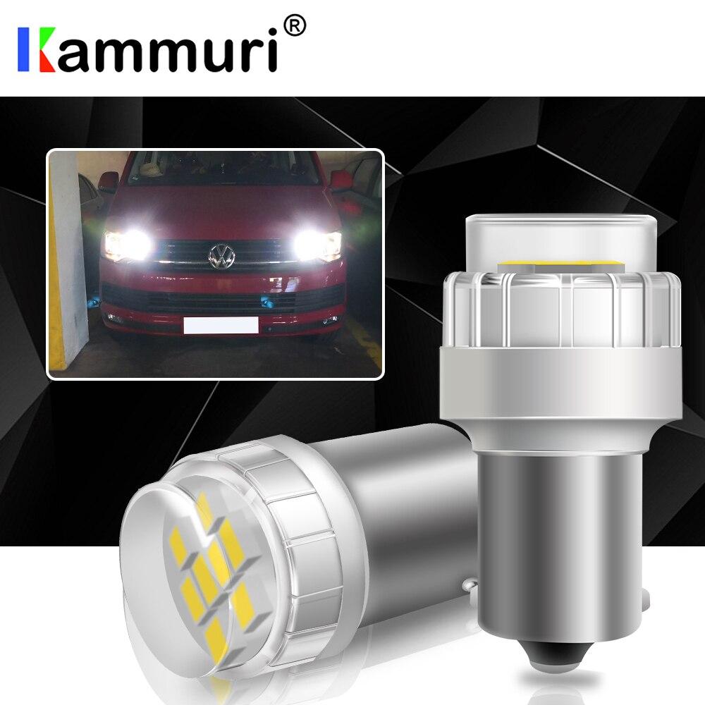 KAMMURI blanco No Erro P21W bombilla LED de coche para VW T4 T5 T5.1 T6 transportador Multivan Caravelle LED DRL luz de retroceso de marcha atrás de la lámpara