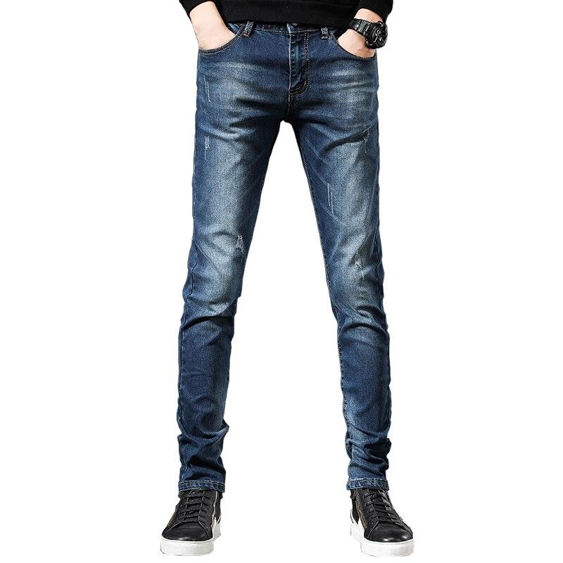 Мужские джинсы, мужские джинсы, мужские брюки, корейские джинсы, брюки, джинсовые брюки, джинсовые брюки, мужские синие новые модные повседн...