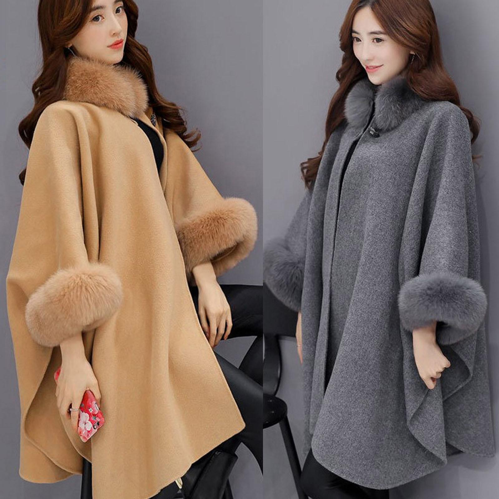 Las mujeres abrigo de lana chaqueta de moda casuales de lana prendas...
