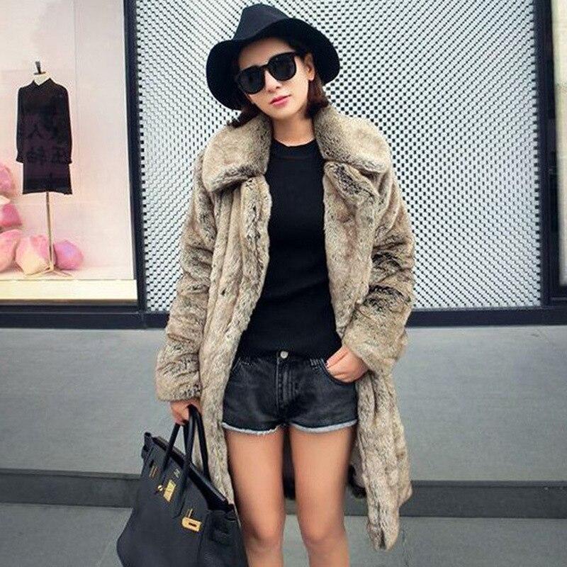 Пальто GAMPORL из 2021 натурального меха норки, Женская Осенняя модная верхняя одежда из искусственного меха, Женская Высококачественная теплая ...