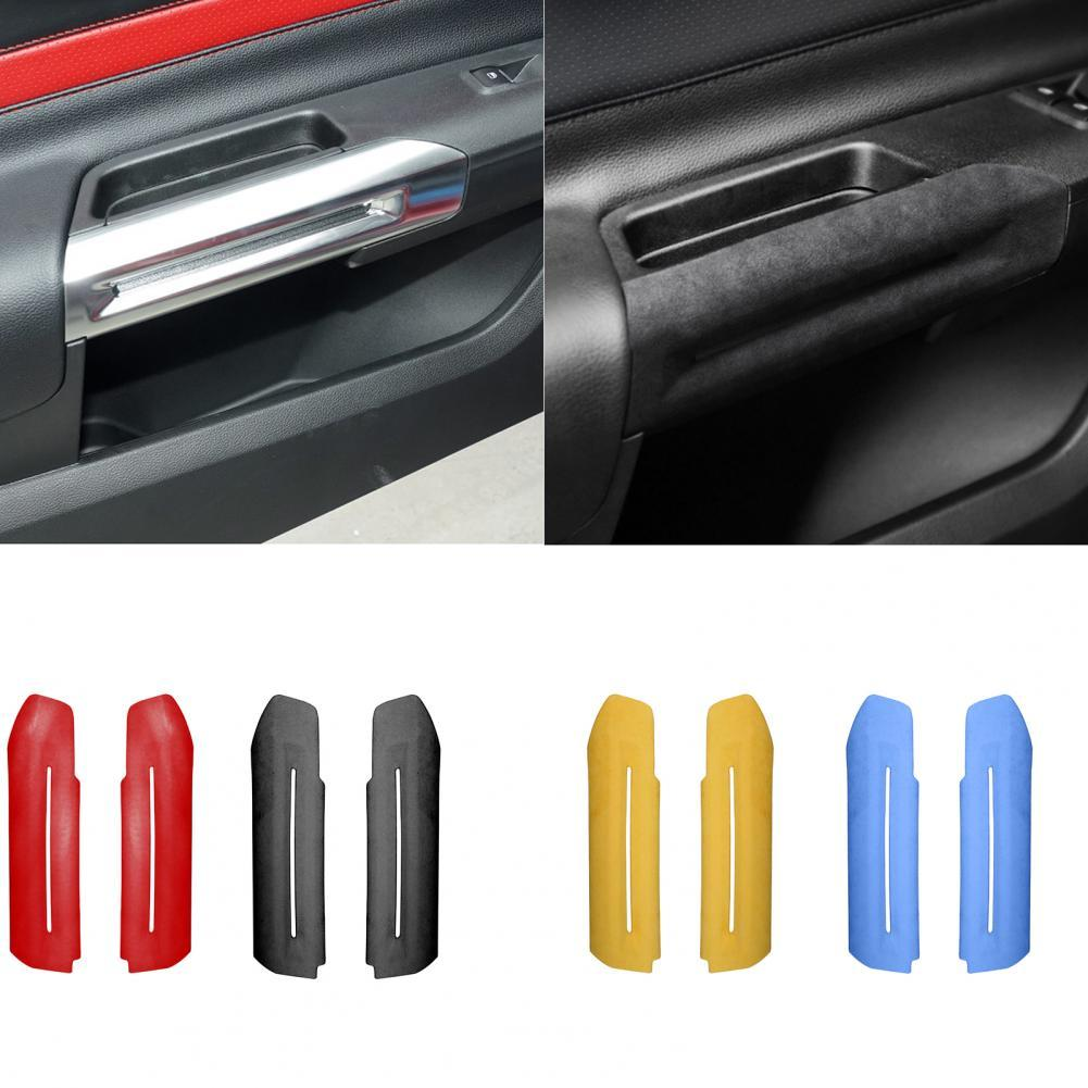 2 Pieces Of Ford Mustang 2015 2016 2017 2018 2019 2020 Car Decoration Accessories Inner Door Handle Cover Decoration Sticker Sha