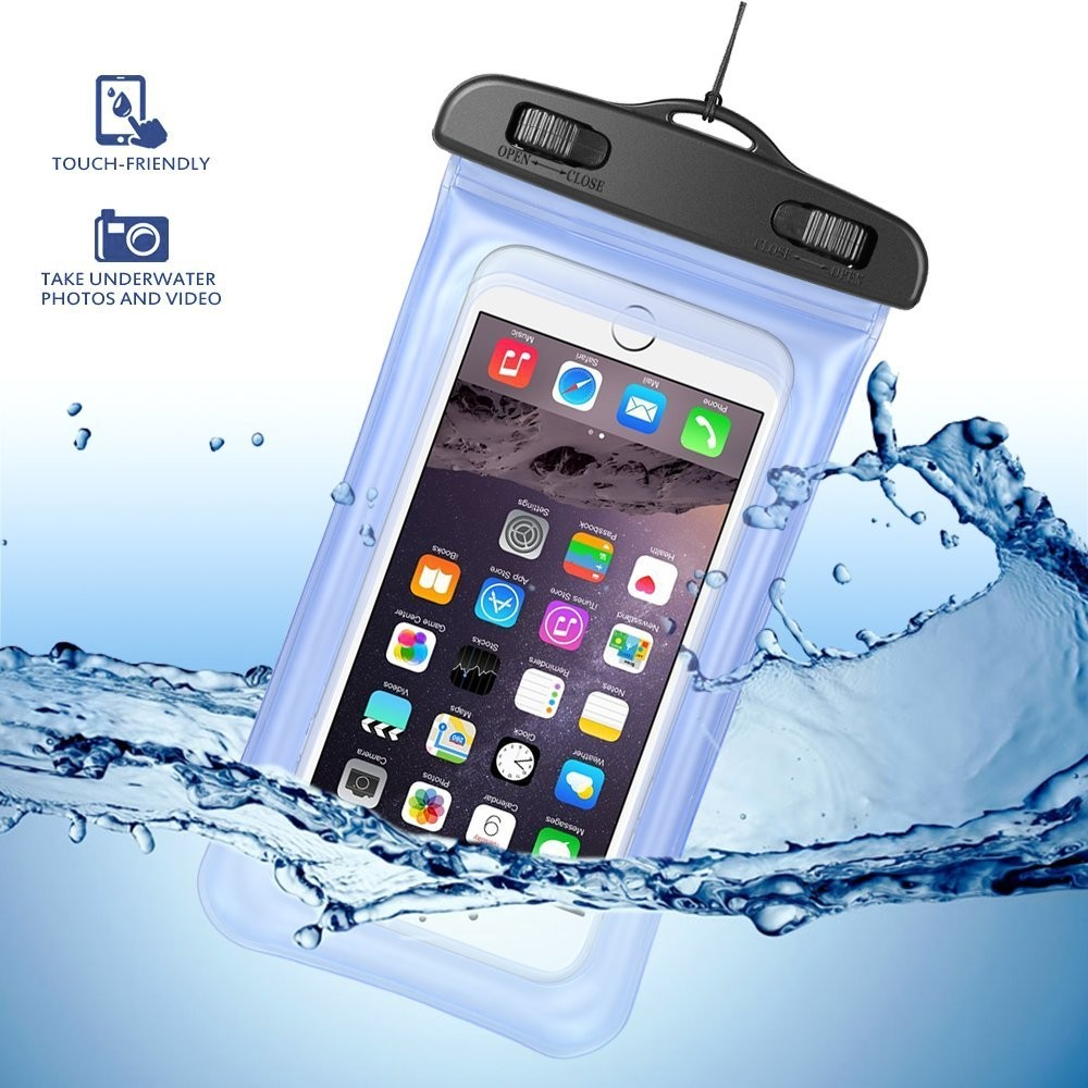 50pcs/lot WaterProof Bag PVC Mobile Phone Cases Clear Pouch Case Water Proof Cell Phone Bag With Lanyard enlarge
