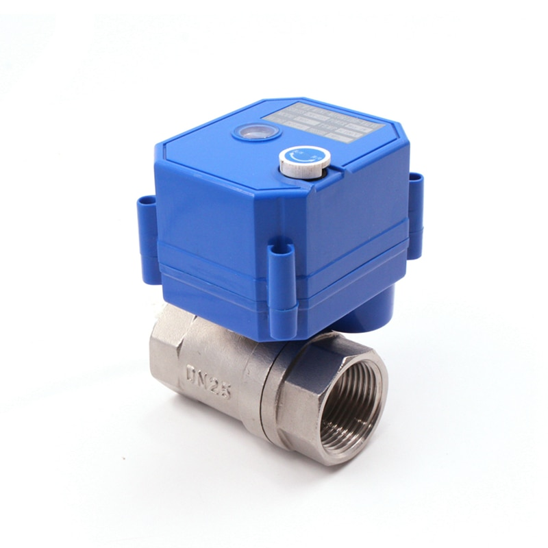 CWX-25S válvula de esfera de aço inoxidável elétrica válvula de esfera motorizada com válvula de água manual DC3-6v adc12v adc24v 110 v ac220v