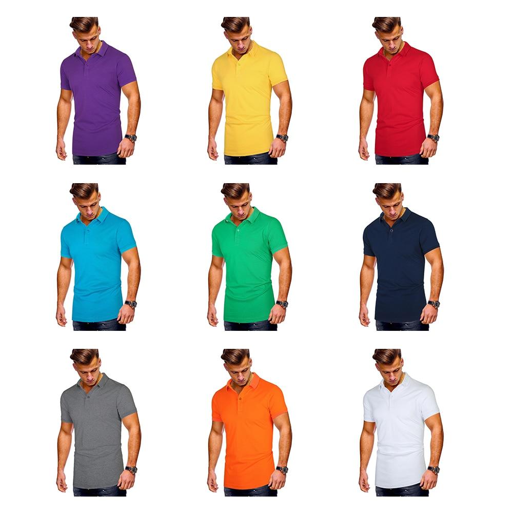 Summer 2020 Hot Sale POLO Shirt Solid Color Lapel New Casual Men's Large Size Short Sleeve Cotton Men Shirt Brand Sports Shirt