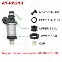 Free Shipping 4sets For Honda fuel injector repair kits For Parts# 06164-P2J-000 06164-P2A-000 For AY-RK210
