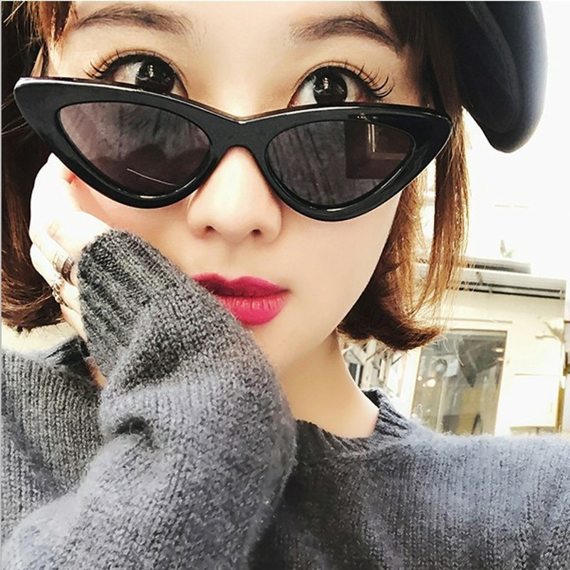 OLOEY Triangle Cat Eye Sunglasses Women Fashion Trend Ocean Water Lens Eyewear Brand Designer Shade