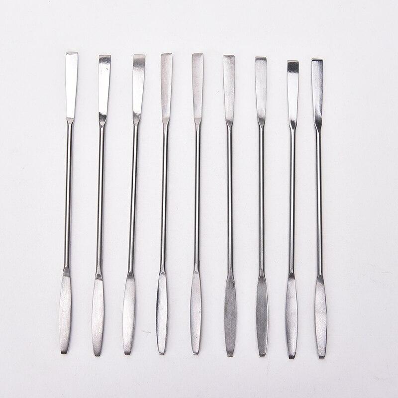 1Pcs Women Stainless Steel Nail Art Makeup Palette Spatula Tone Rods Tool Beauty