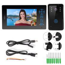 7in TFT 2.4G sans fil vidéo sonnette IR Vision nocturne interphone étanche à la pluie 100V-240V