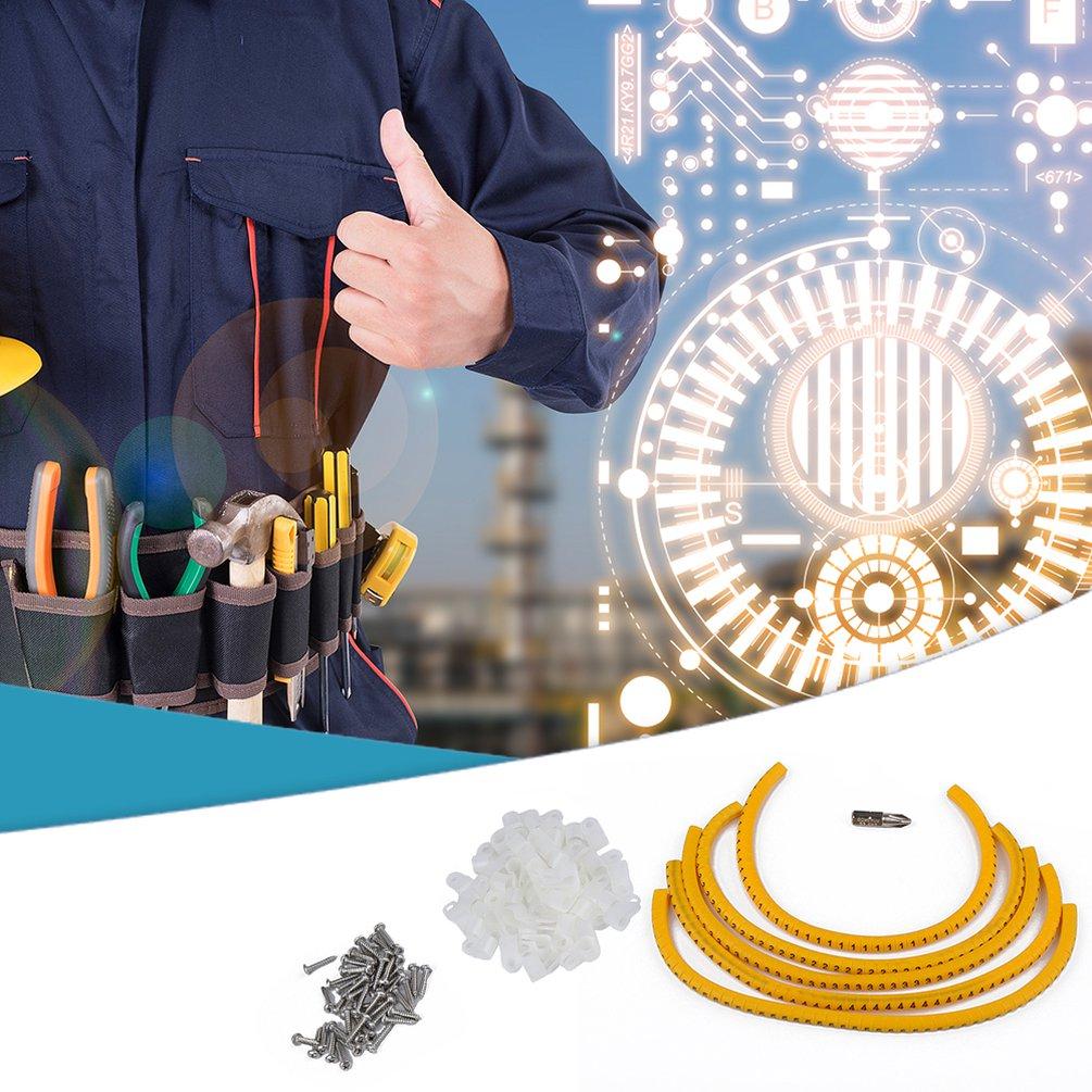 5/16 R Plastic Cable Clamp / Screw / Phillips Screw / Digital Number Set