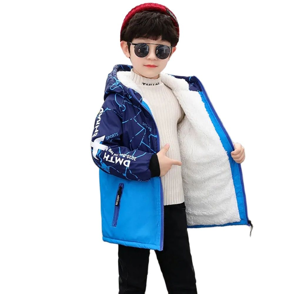 jaqueta de inverno de poliester para menino casaco grosso e grosso de veludo com