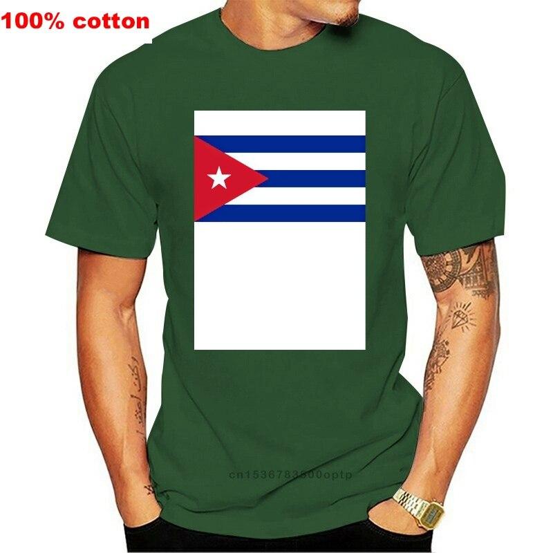 Camiseta de Cuba con luz solar para hombre, camisa 100% de algodón...