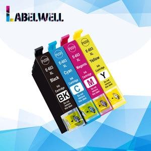 Labelwell 1 set E-603xl t603 xl  603xl ink cartridge 603 xl  T603 XL Compatible for Epson WF-2850DWF XP-2100 XP-2105 XP-3100