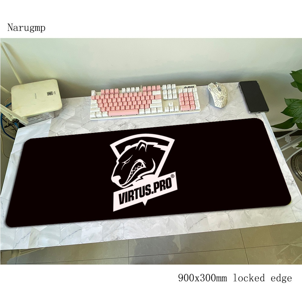 Virtus pro almohadilla ratón hermosa computadora alfombrilla de ratón para gamers 900x300x4mm padmouse grande xl ratón ergonómico gadget de escritorio de oficina de