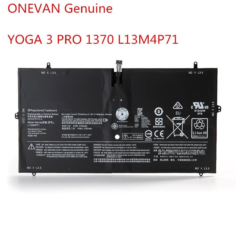 ONEVAN 7,6 В 44Wh новый оригинальный L13M4P71 Аккумулятор для ноутбука Lenovo YOGA 3 PRO L14S4P71 1370 Pro-5Y71 Pro-I5Y51 Pro-I5Y70 Pro-I5Y71