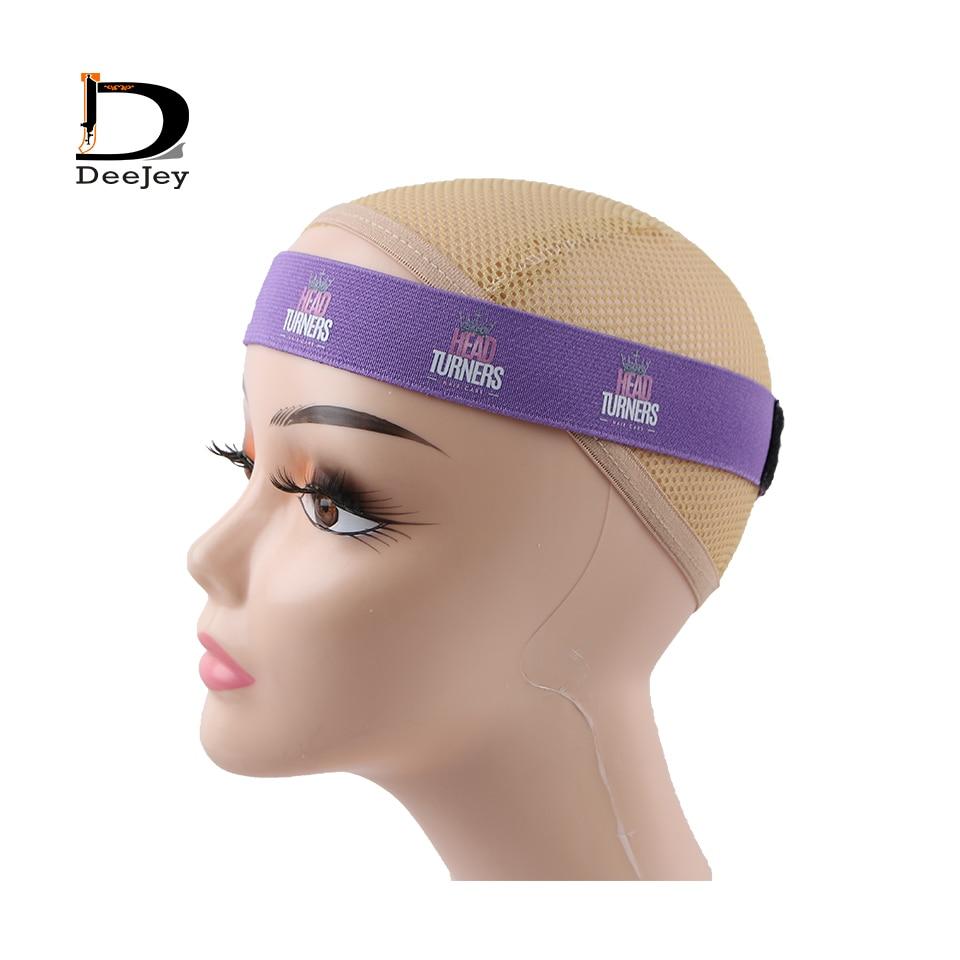 custom logo wig Elastic Headband Elastic head wraps band lace melt belt fastner tape hook and loop edge slayer band