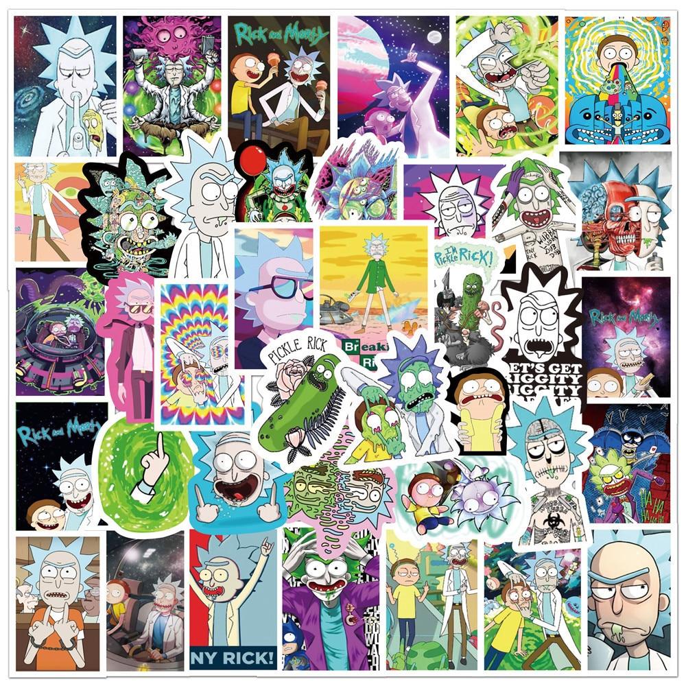Забавные аниме наклейки 10/30/50 шт., наклейки «сделай сам» для мотоцикла, багажа, гитары, скейтборда, Классические Мультяшные граффити, наклейки для детских игрушек