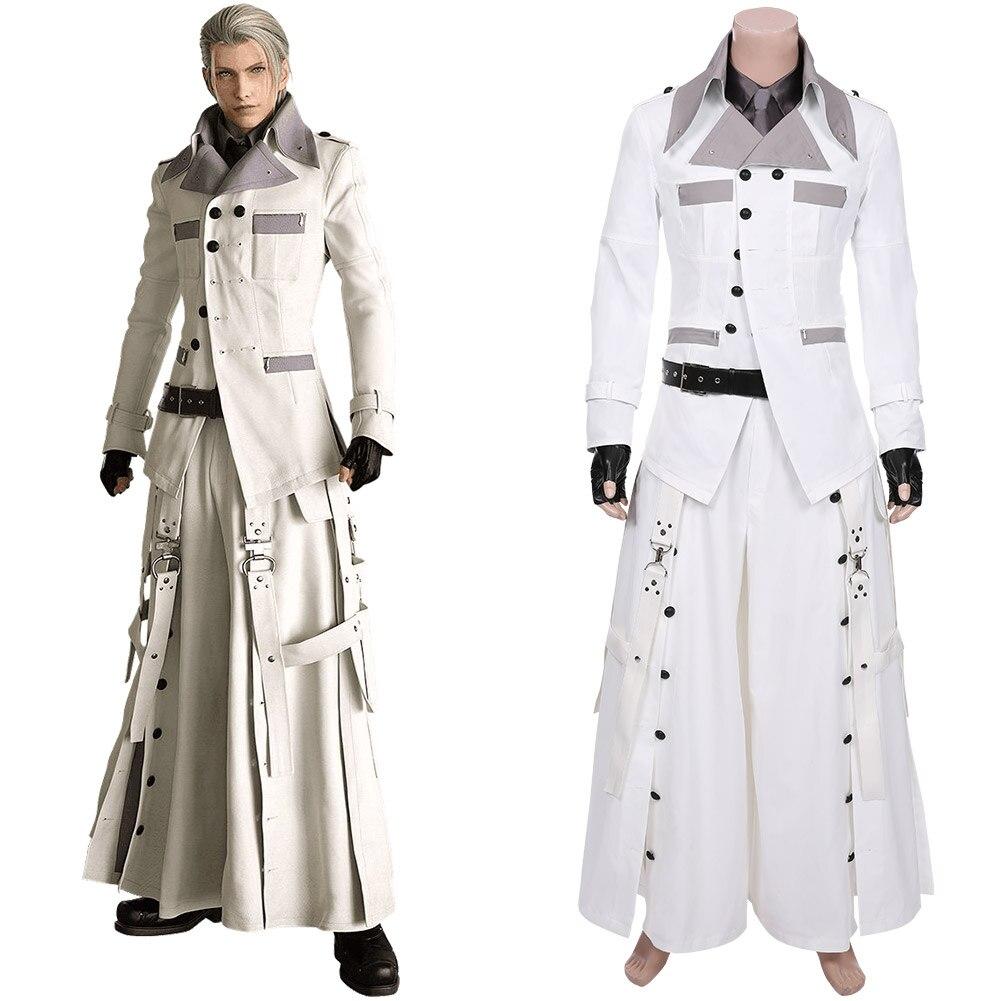 Cosplay Final Fantasy VII, disfraz de Rufo Shinra, uniforme con gabardina para hombre, disfraz de Carnaval de Halloween personalizado