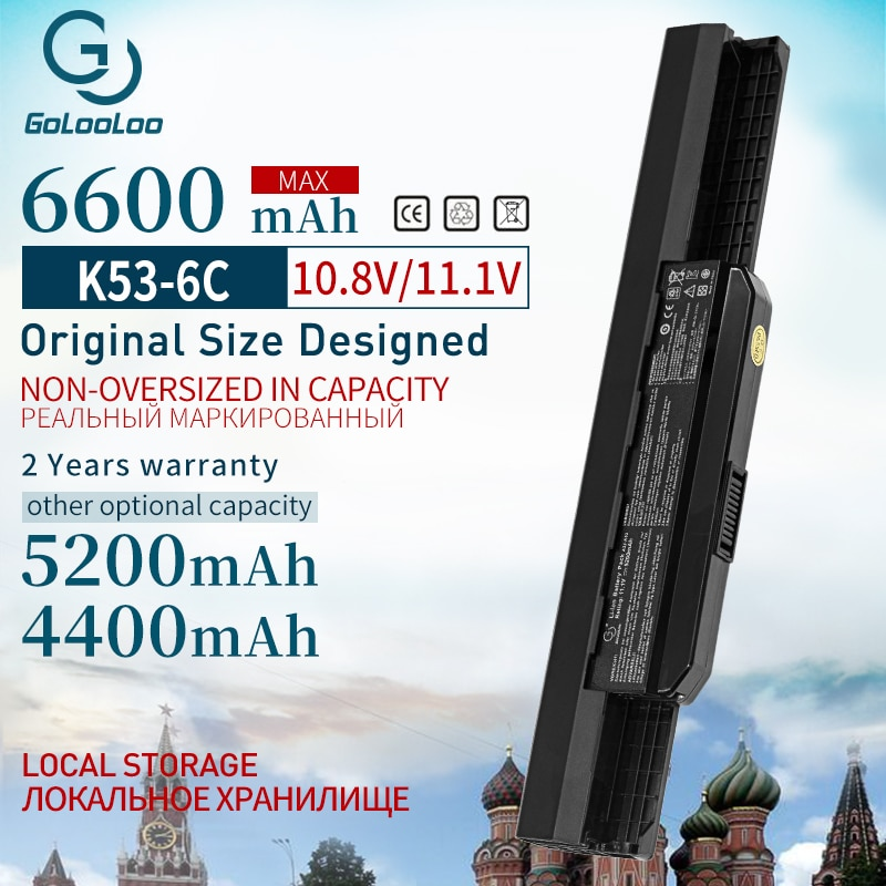 11,1 v batería del ordenador portátil para Asus A32-K53 A42-K53 K43SV A43 A53 A53S A53SV K43 x54h k53t K43S K53 K53E K53F K53S K53SV K53T K53U