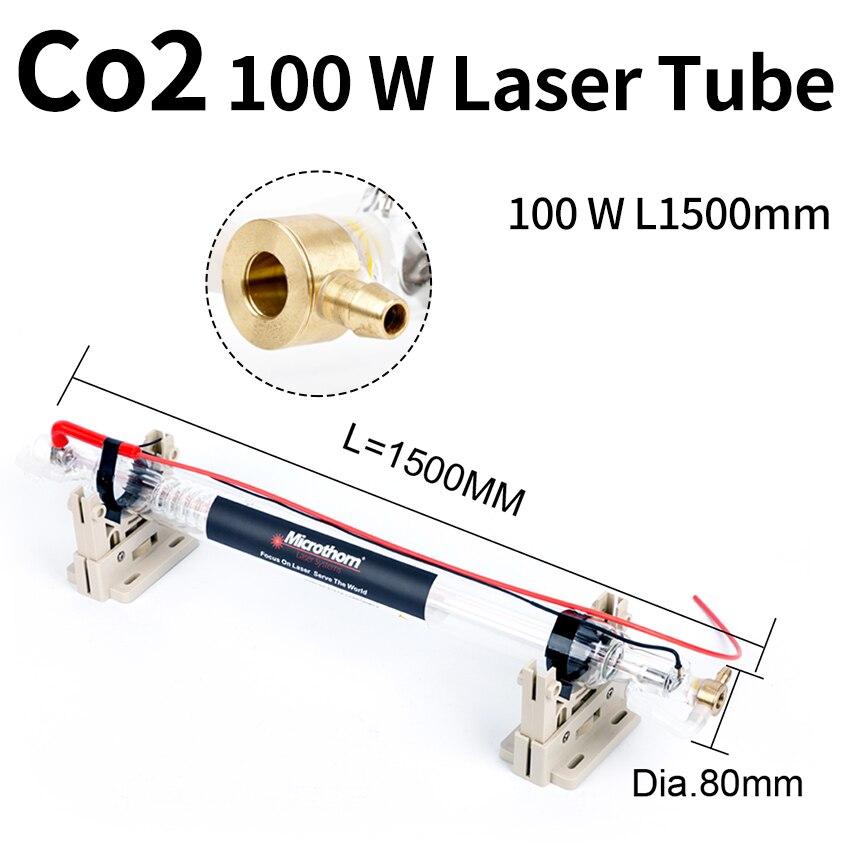 Co2 ليزر أنبوب 100 واط 1500*80 مللي متر ل Co2 النقش بالليزر/ماكينات قص