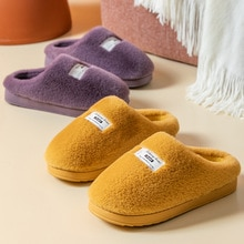 Men Slippers Fashion Autumn Winter Cute Keep Warm Shoes Men Casual Flat House Indoor Bedroom Home Co
