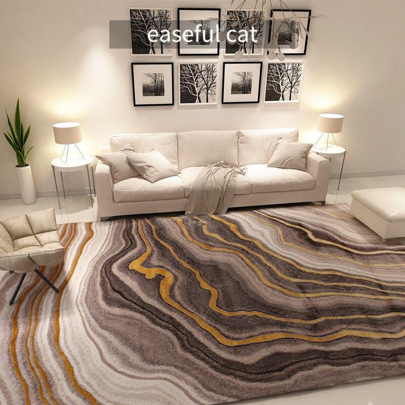 أريكة ذهبية فاخرة على الطراز الأوروبي والأمريكي ، 160 × 230 سنتيمتر ، لغرفة النوم ، الفندق ، غرفة المعيشة ، المطعم ، السجاد الكبير