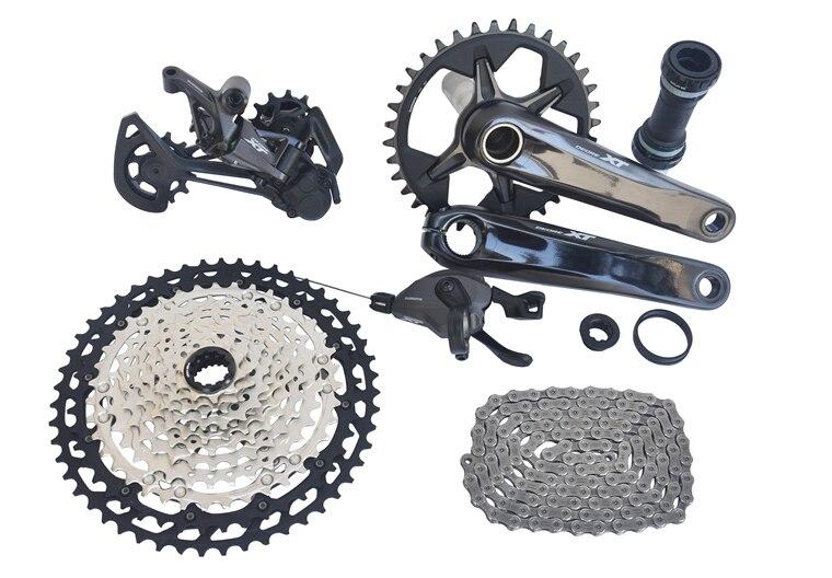 SHIMANO DEORE XT M8100 Groupset 32T 34T 170mm Kurbel Mountainbike Groupset 1x12-Speed 10-51T m8100 Schaltwerk