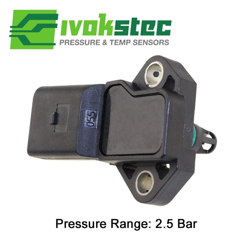 2.5 BAR Manifold Intake Air Turbo Boost Pressure MAP Sensor For Audi A1 A2 A3 A4 A6 A8 1.2 1.4 1.9 2.5 2.7 3.0 4.0 TSI TDI TFSI