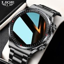 LIGE New  Bluetooth Call watch Smart watch Men And Women Full touch Fitness tracker Blood pressure S