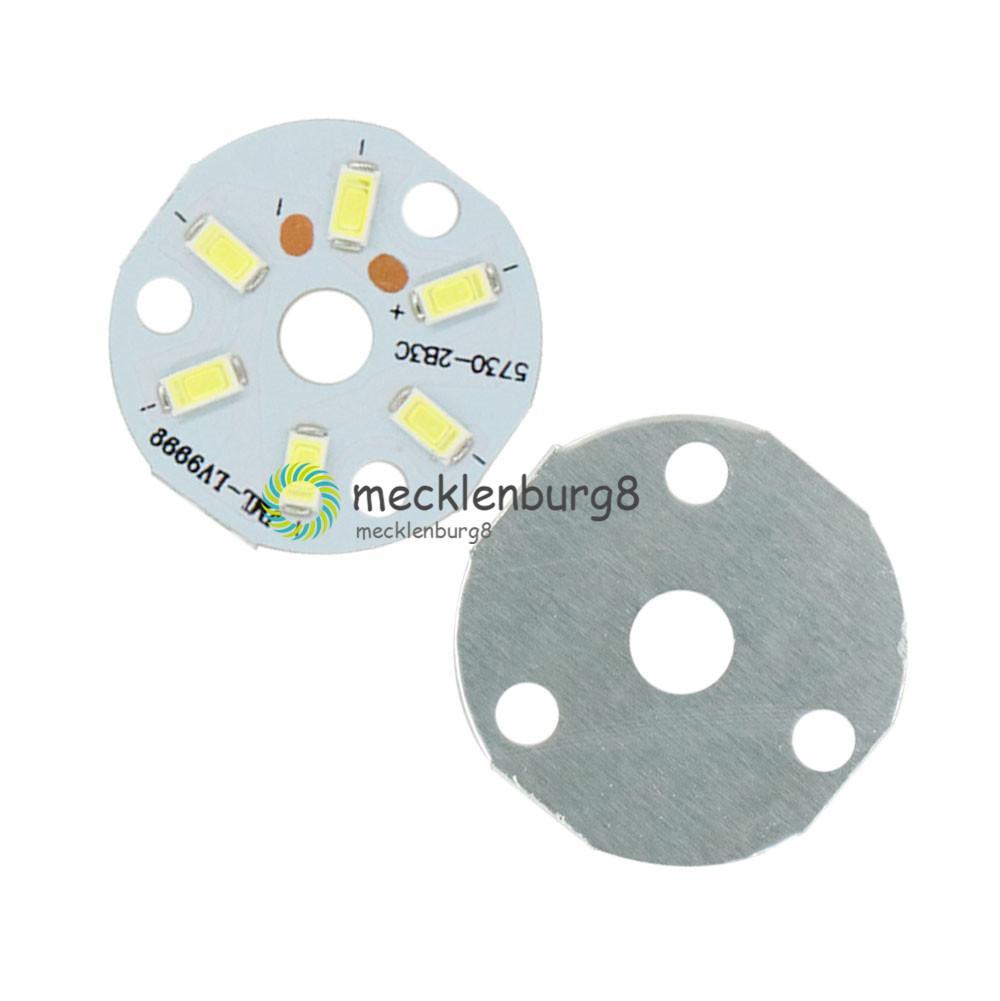 5 uds 3W 5730 diodo LED blanco brillo SMD Panel de lámpara LED para techo PCB para lámparas